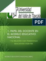Docente en el Modelo Educativo Nacional