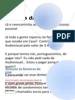 Atenção às facturas da EDP