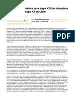 Chile y Latinoamérica en el siglo XX:Los desastres naturales en el siglo XX en Chile