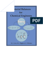 Material Balances for Chemical Engineers