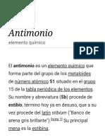 Antimonio - Wikipedia, La Enciclopedia Libre