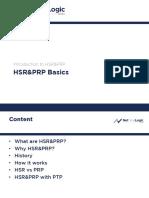 Hsr&Prp Basics
