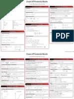 Examp Formula Sheets