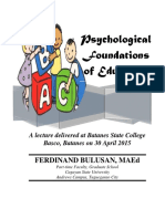 PsychoPsychological Foundations of Education