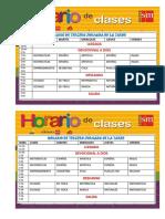 Horarios de Clases 2017