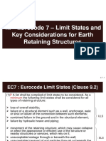 4.7 Eurocode 7 - Limit States and Key Considerations for Earth Retaining Structures