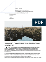 Valuing Companies in Emerging Markets ONEtoONE Corporate Finance-1