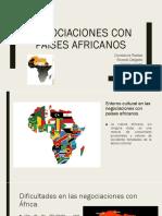Negociación Con Africa