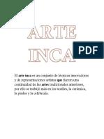 El Arte Inca Rocio