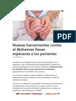 Nuevas Herramientas Contra El Alzheimer