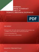 esophagus plan comparison