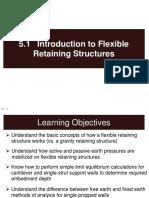 flexible retaining structure