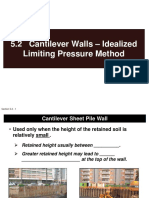 5.2 Cantilever Walls - Idealized Limiting Pressure Method