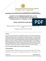 IMSUIJED A SURVEY OF ENTREPRENEURSHIP EDUCATION CURRICULUM AS AN INSTRUMENT FOR REDUCING UNEMPLOYMENT IN NIGERIAN UNIVERSITIES.pdf