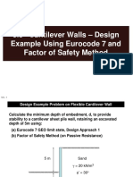 5.5 Cantilever Walls - Design Example Using Eurocode 7 and Factor of Safety Method