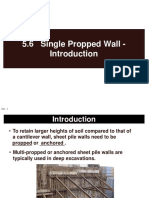 5.6 Single-Propped Wall - Introduction