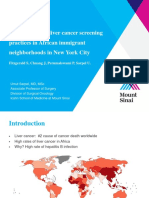 Hepatits B and liver cancer screening practices in African immigrant neighborhoods in NYC