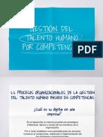 Procesos Organizacionales de La Gestión Del Talento Humano Basados en Competencia