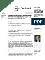 Power Posing Fake It Until You Make It - HBS Working Knowledge - Harvard Business School