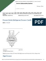 Pressure Switch (Refrigerant Pressure Cutoff)