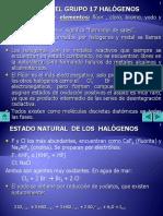 17 HALOGENOS QuimicaDescriptiva