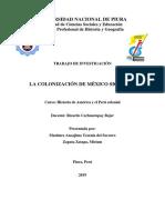 La Colonización de México Trabajo Grupal.