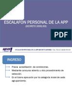 Escalafon Personal Civil de La App