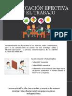 Comunicación Efectiva en El Trabajo