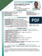 Curriculum Oscar Agostini 2019