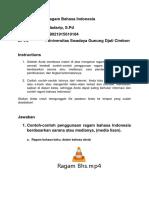 Tugas M4 KB4 Ragam Bahasa Indonesia