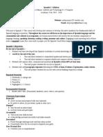 spanish 1 syllabus 2019 2020