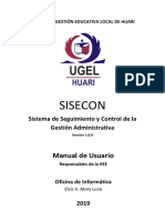 SISECON Manual - Respónsable