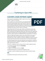 Cashiering en Opera PMS – Opera PMS