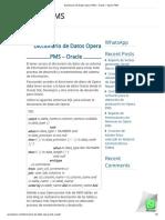 Diccionario de Datos Opera PMS – Oracle – Opera PMS