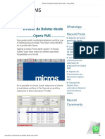 Emisión de Boletas Desde Opera PMS – Opera PMS