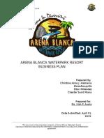 Arena Blanca Waterpark Resort Final Business Plan