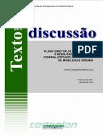 TD 25 Plano Sustentável Para Mobilidade Urbana Do DF