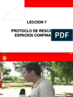Leccion 07 - Protocolo de Rescate en Espacios Confinados