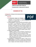 PLANIFICACION Y PRESUPUESTO PÚBLICO