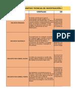 Ventajas y Desventajas Tecnicas Cuantitativas