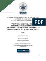 PROPUESTA DE INSTALACIONES ELÉCTRICAS PARA LA EMPRESA