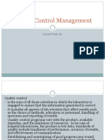 Quality Control Management