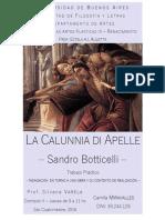 La calumnia de Apeles de Sandro Botticelli