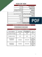 Curriculum Normalizado Lic. Franz Ballivian Pol