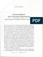 Existentialism and Christian Humanism (1)
