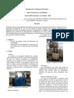 Informe Visita Al Laboratorio Termofluidos