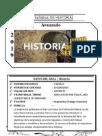 Syllabus de Historia Avanzado Del III Bimestre