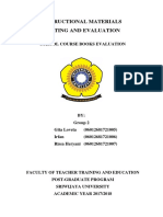 A Final Version of the Evaluative Checklist