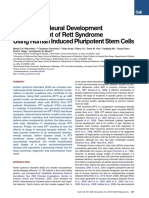 A Model for Neural Development and treatment of rett syndrome using human induced pluripotent stem cells.pdf