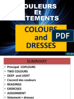 Colours and Dresses in French